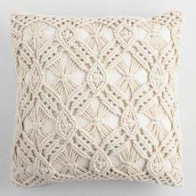 Macrame wedding pillow cover Handmade macrame cushion sham Boho Customized size