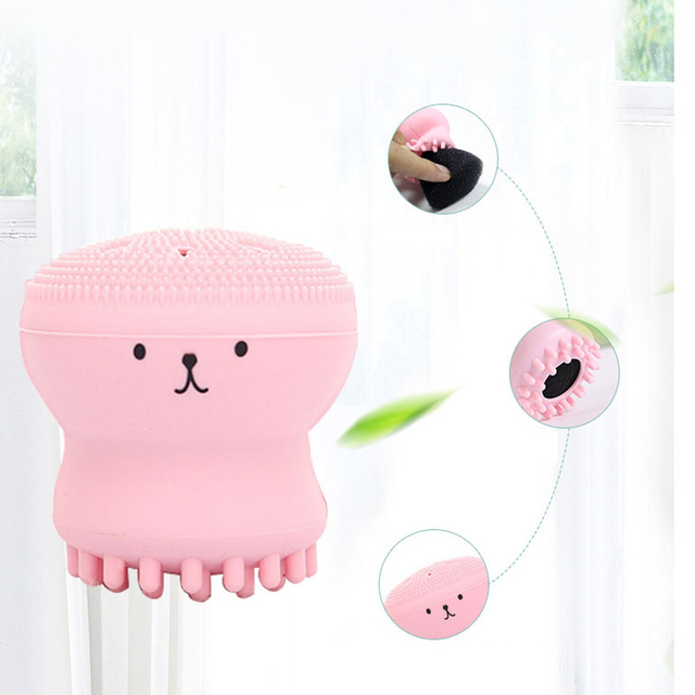 Octopus Shaped Silicone Cleansing Brush
