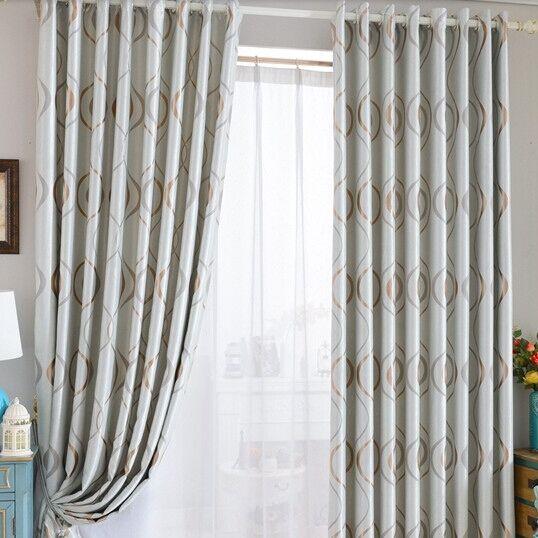 Simple Design Jacquard Blackout Curtain Full Blind Drape