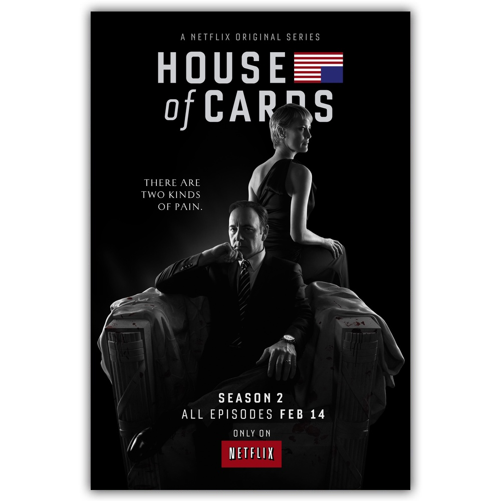 House of Cards TV Movie Art Silk Fabric Poster Print 24x36 inch