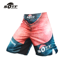 SOTF exercise loose large size fitness comfortable Thai fist fitness shorts muay thai short cheap mma