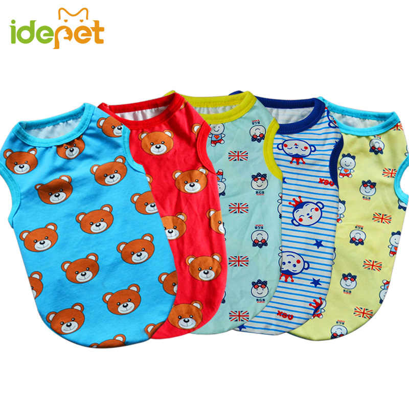 Summer Pet Dog Clothes Shirt Cotton Big Dog Vest for Small Dog Large Pet Apparel Pajamas Sweatshirt Outfit Funny Costumes 50 S1