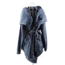 2016 г. Весна Для женщин новая верхняя одежда с капюшоном Джинсы для женщин пальто Джинсовый плащ с капюшоном