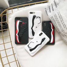 US Fashion Street Trend 3D Shoes Air Jordan Cases For iPhone 8 7 6s 6 Plus d63ff41de5cc