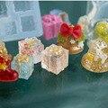 Прозрачная силиконовая форма для рождественской подарочной коробки для изготовления украшений из эпоксидной смолы, инструменты для подел...