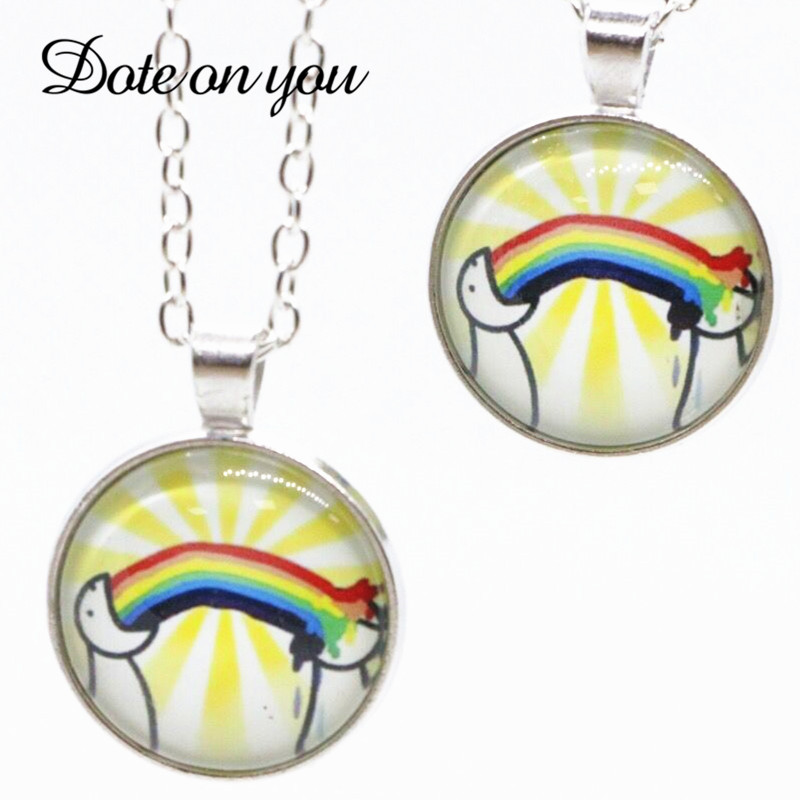Time Crystal Necklace Colorful Rainbow Choker Necklace Chain Ribbon For Men Women Lesbian <font><b>Bisexual</b></font> Lgbt Gay <font><b>Pride</b></font> <font><b>Jewelry</b></font> image