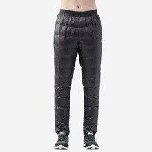 TECTOP ultralight ördek aşağı pantolon erkekler kış aşağı pantolon soğuk hava kar kamp açık ışık sıcak yumuşak termal pantolon siyah