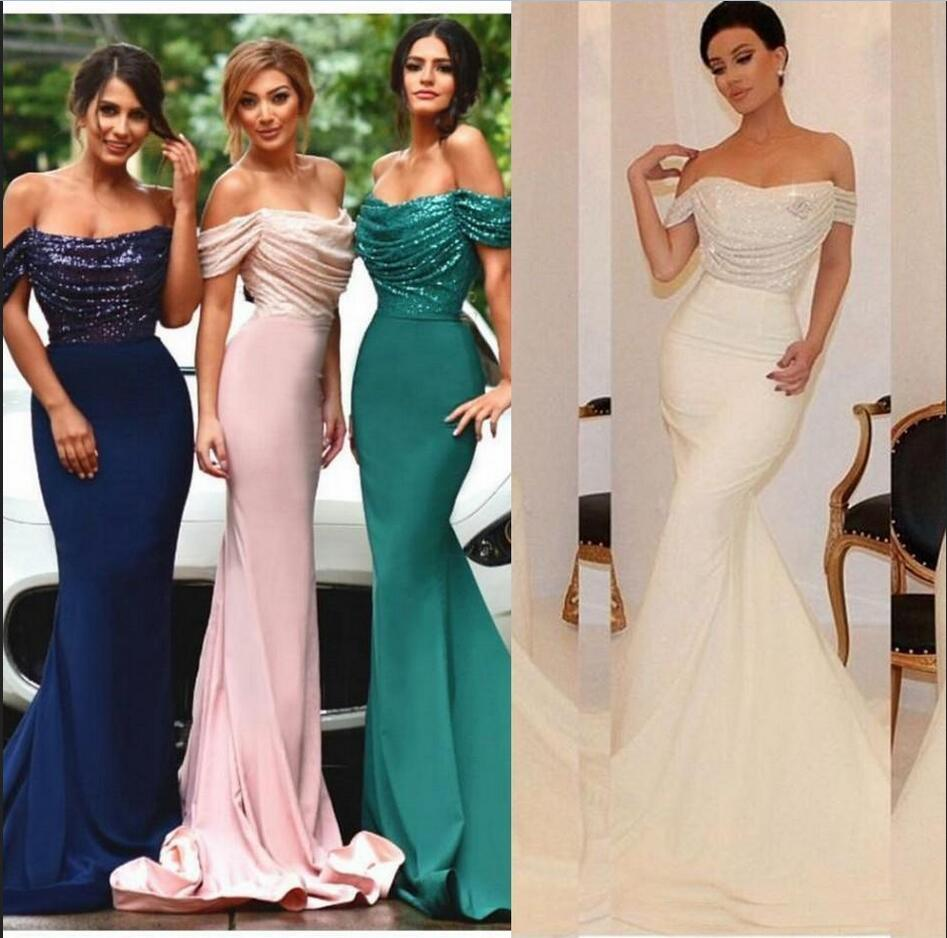 Online buy wholesale cheap mermaid bridesmaid dresses from china cheap 2017 mermaid bridesmaid dresses sequins beach backless long off shoulers custom made wedding bridesmaids dresses ombrellifo Images