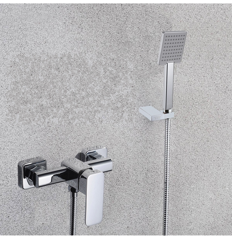 Chrome Solid brass shower mixer faucet wall mounted Cold and hot water tap faucet mixing valve shower set-M54543Chrome Solid brass shower mixer faucet wall mounted Cold and hot water tap faucet mixing valve shower set-M54543