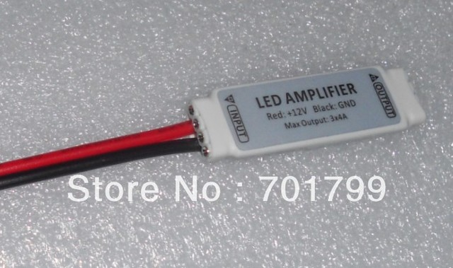 led mini rgb amplifier,DC12V input,4A*3 channel output