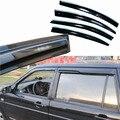 4 pcs Janelas de Ventilação Viseiras Chuva Guarda Sol Escudo Escuro Defletores Para VW Santana