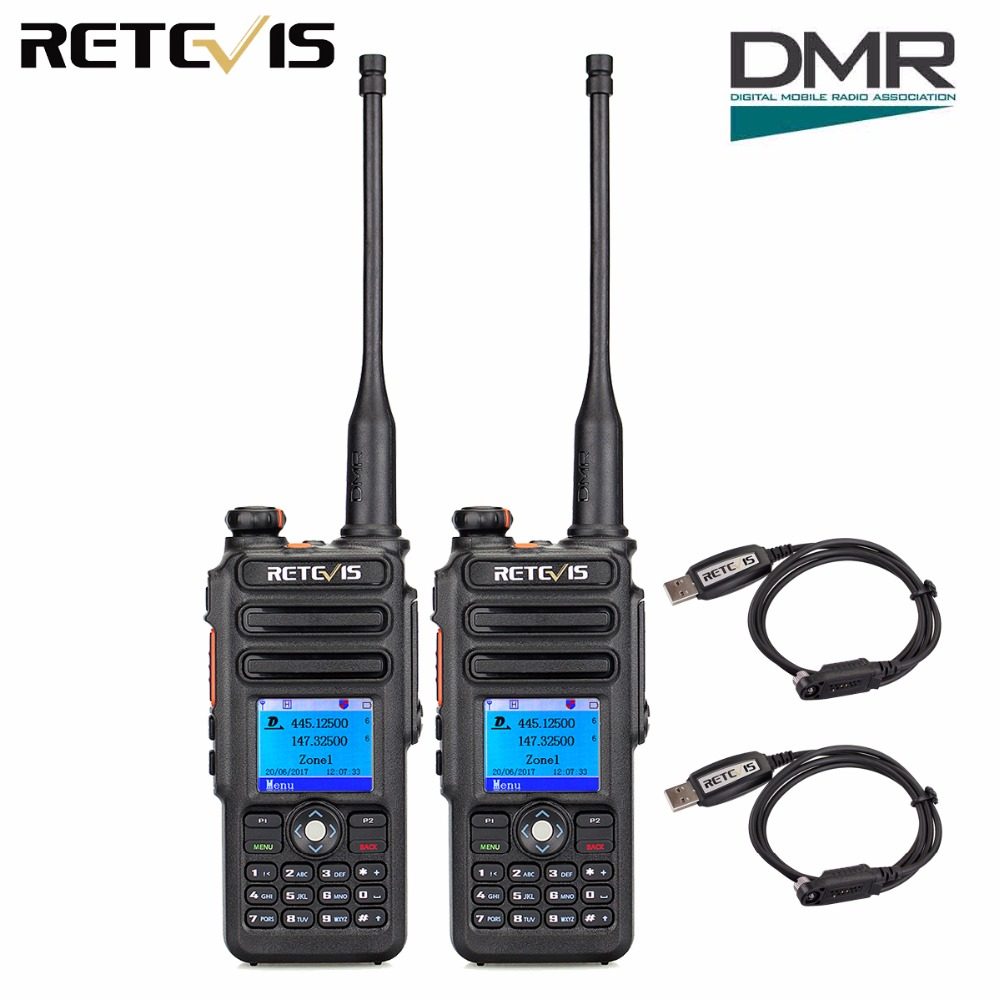 2pcs Retevis RT82 GPS Dual Band DMR Digital Walkie Talkie DCDM TDMA IP67 Waterproof Hf Transceiver Ham Radio Comunicador2pcs Retevis RT82 GPS Dual Band DMR Digital Walkie Talkie DCDM TDMA IP67 Waterproof Hf Transceiver Ham Radio Comunicador