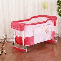 Многофункциональный ребенка Колыбели новорожденных детская кроватка детская Портативный складной детской кроватки шейкер кровать 2 в 1 по