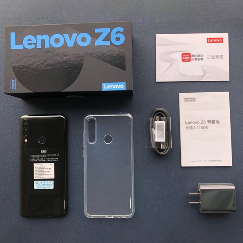 Global ROM Lenovo Z6 Lite 4GB 6GB 64GB 128GB Snapdragon 710 Octa Core Smartphone Triple Back Cams 6.3'' 19.5:9 WaterDrop 4050mAh