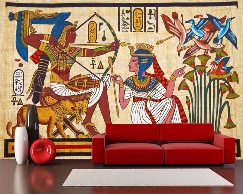 beibehang Home Furnishings Large Living Room Bedroom Wallpapers Classical Egyptian European Mural TV Walls 3d wallpaper mural galaxy 3d ceiling large mural wallpaper living room bedroom wallpaper painting tv backdrop 3d wallpapers for walls