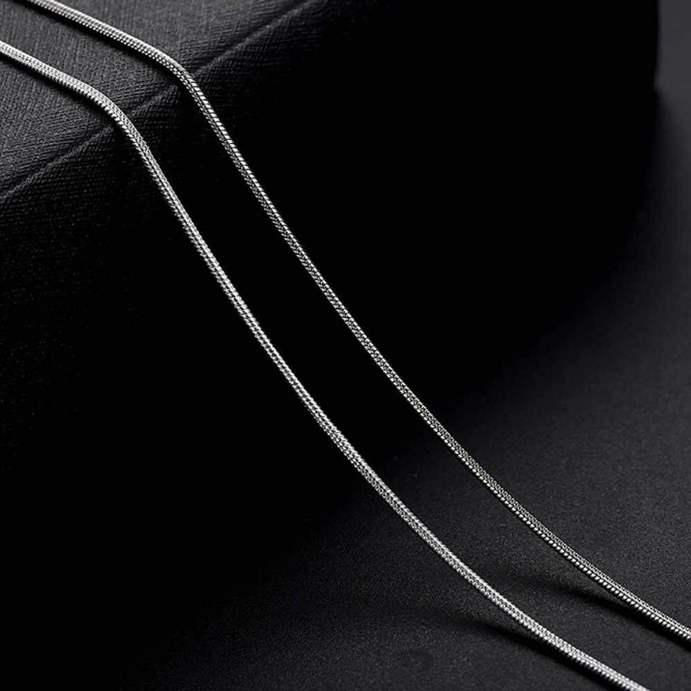 "5pcs כסף מצופה שרשרת נחש עם אבזם עבור DIY Necklac תכשיטי ביצוע, 1.2mm שרשרת סיטונאי 10 16 18 20 22 24 30 ""HK091"