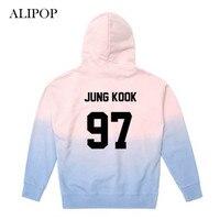 ALIPOP Kpop BTS Bangtan Boys WINGS Album Gradient Color Hoodie Pullover Hoodies Clothes Printed Long Sleeve