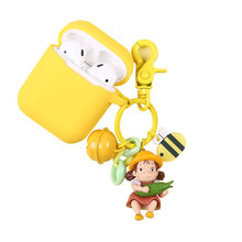 Miyazaki My Neighbor Totoro Mei Action Figures Doll Keychain Silicone Case For Apple Airpods Earphone Protector Cover Keyring
