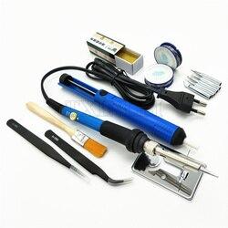 60 Вт Регулируемая температура Электрический паяльник набор сварочная паяльная станция тепловой карандаш набор инструментов для ремонта