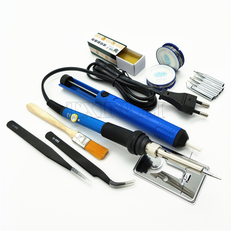 60W Adjustable Temperature Electric Soldering Iron Set Welding Solder Station Heat Pencil Repair Tool Kit