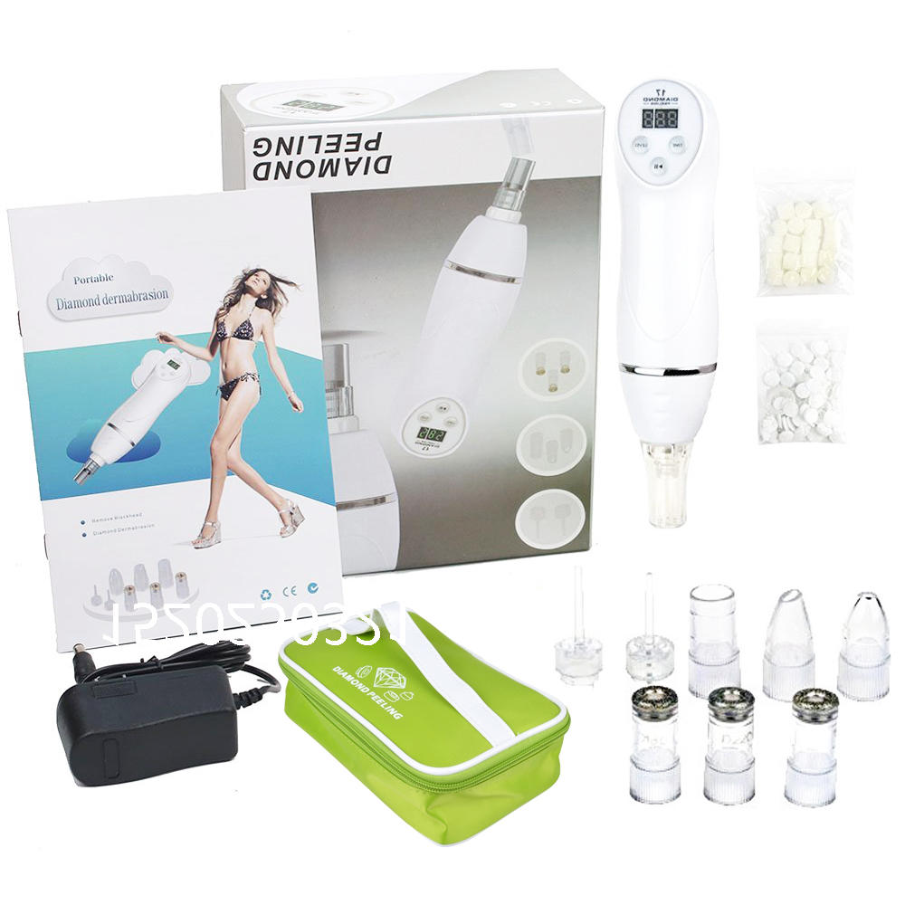 Blackhead Removal Vacuum Suction Machine Comedo Diamond Dermabrasion Scar Acne Pore Peeling Face Clean Facial Skin Care Beauty deep face cleansing brush facial cleanser 2 speeds electric face wash machine