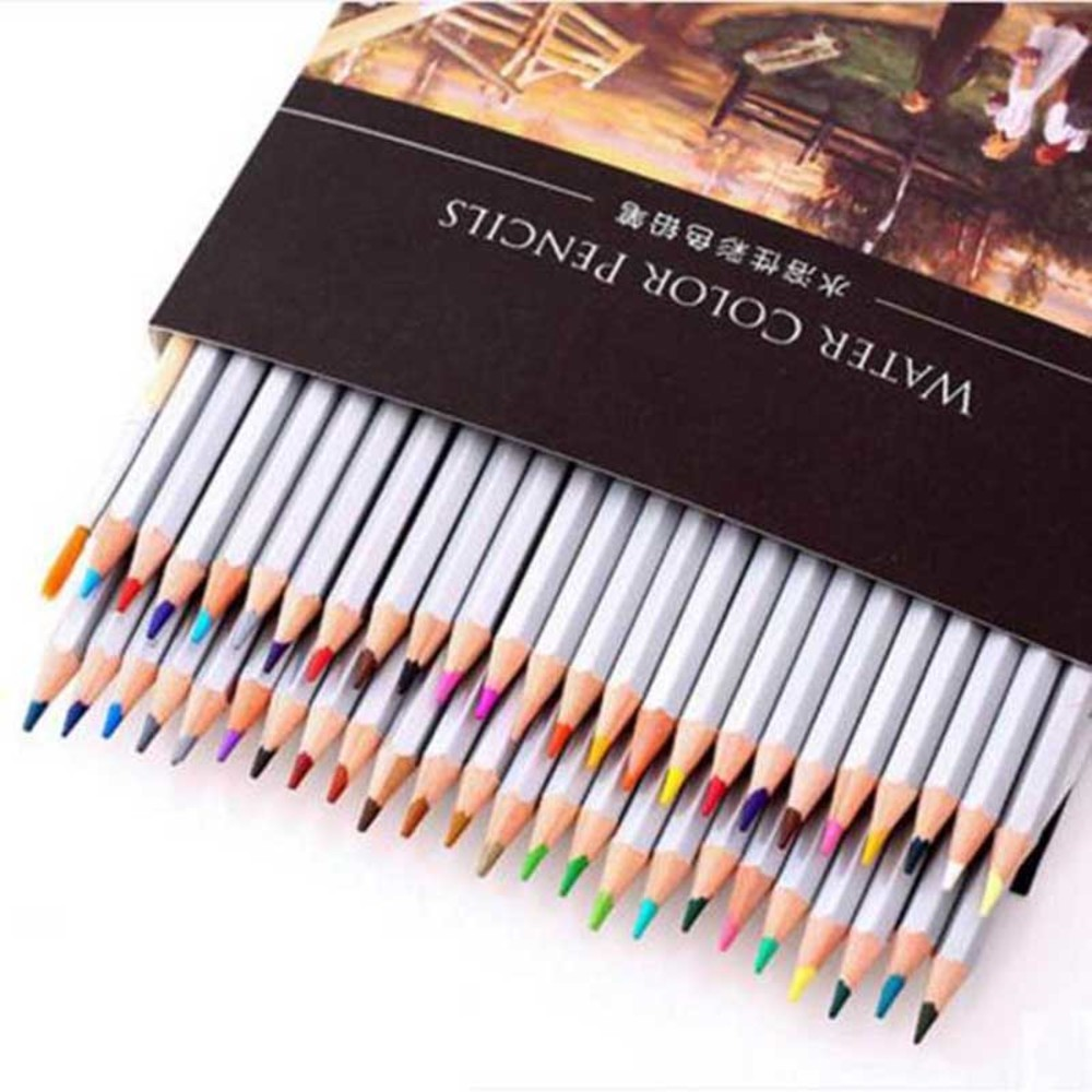 Free shipping water-soluble color pencil tin box set hand-painted 24 36 48 60 color painting lapis de cor  faber castell /Y16011
