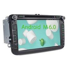 2 GB 2 Din Android 6.0 de Cuatro Núcleos de Radio Estéreo Del Coche para VW Skoda Superb POLO GOLF PASSAT CC con audio broadcasting DAB + Antena
