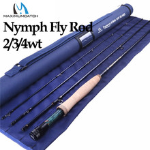 Maximumcatch 2/3/4WT Nymph Fly Fishing Rod IM10/36T Graphite Carbon Fiber 10/11FT Moderate Fast Action Nymph Fly Rod