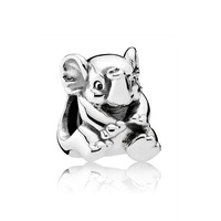 Top Quality 925 Sterling Silver Bead Charm Lucky Elephant Animal Silver Beads Fit Pandora Bracelet Bangle