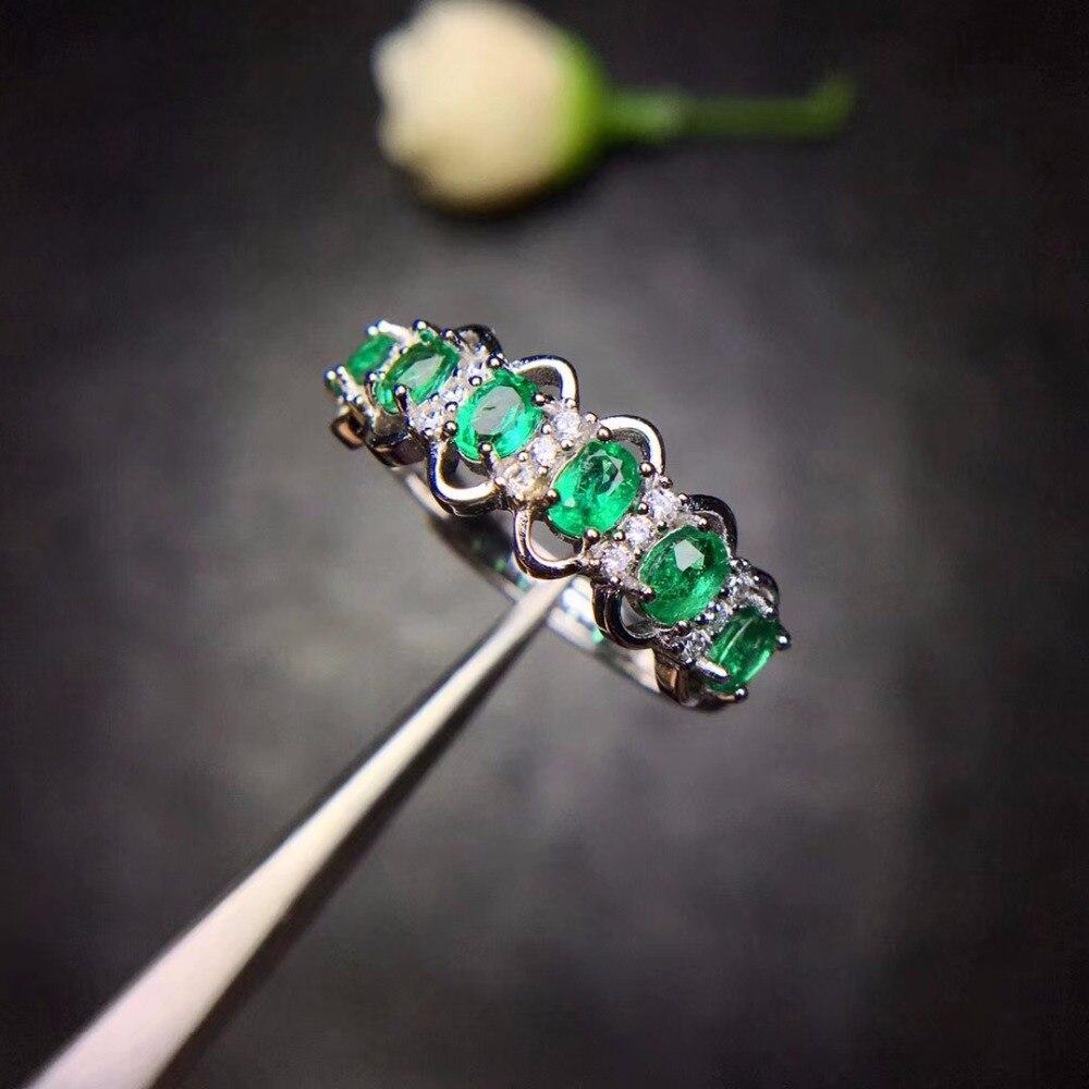 100% Wahr Spezielle Produkte, Natürliche Smaragd Ringe, Kompakte Und Kompakte, 925 Silber Lieblings Geschäfte.