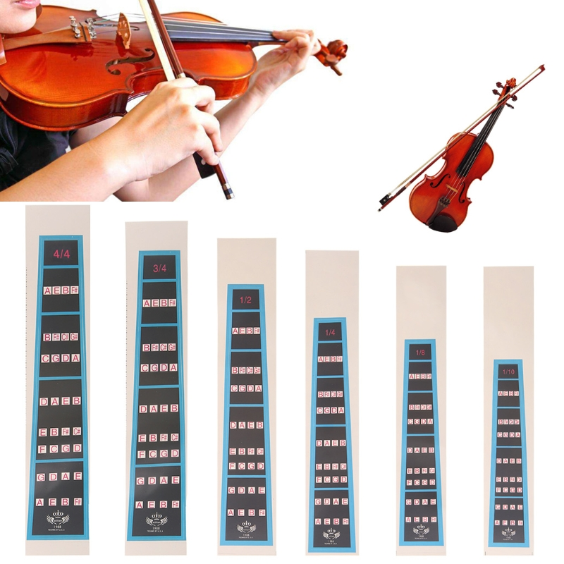 1Pcs Violin Scale Stickers Fingering Chart For 4//4 3//4 1//2 1//4 1//8 1//10 Violin