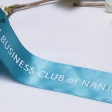 Логотип личного брэнда printesatin ленты имя печать Свадебная подарочная упаковка волос декоративные ленты