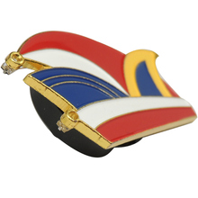 Cheap Cute Clown Hat Badge Custom Epoxy Printed Badges