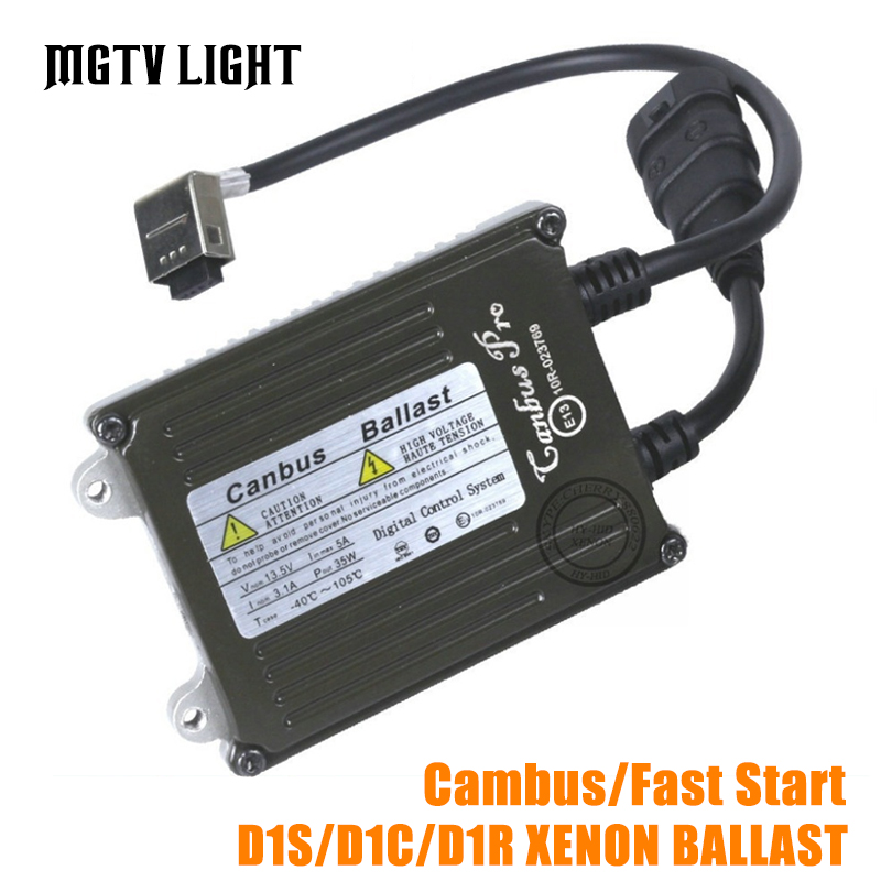 FREE SHIPPING 12V-24V High Quality D1 Canbus and fast start Ballast For D1C D1S D1R HID Light Bulbs 35W Xenon Ballast free shipping osram xenon hid ballast d1s