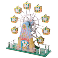 Luxury Tin Toy Vintage Ferris Wheel Model Wind up Musical Clockwork Tin Toy Collectibles Classic Toys for Kids Children Adults