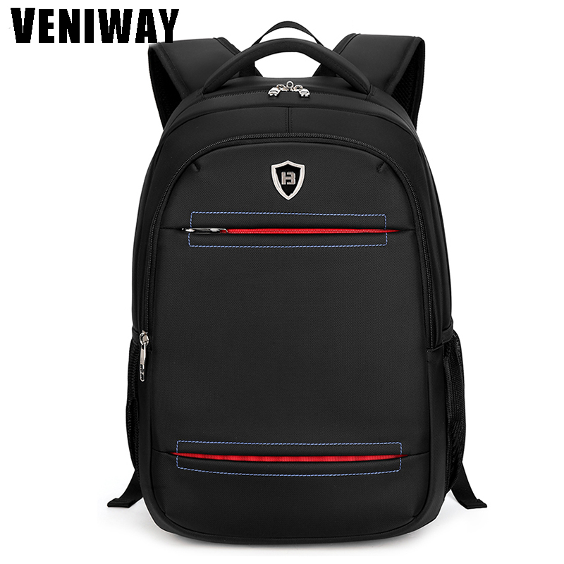 VENIWAY High Quality Men Computer Laptop Backpack Waterproof Oxford Business Backpack Male Large Capacity Travel School Bag ruil 2017 high capacity backpack men s travel durable schoolbag laptop large capacity computer bag