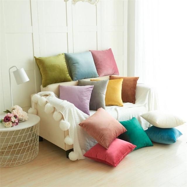 Sofá cojines decorativos terciopelo almohada sofá tiro de la cintura cojín decoración del hogar funda de cojín x30401