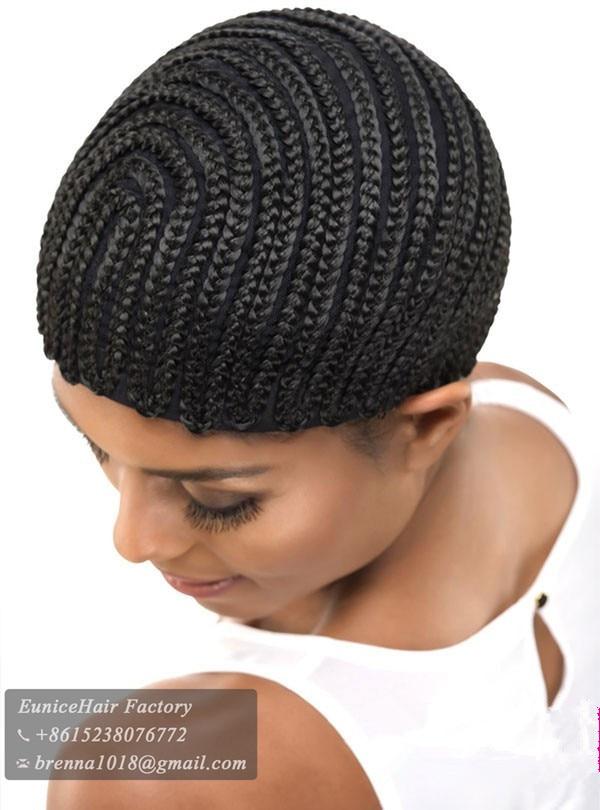 New Cornrows Wigs Cap Braided Cap Full Bang Pattern For Crochet