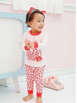 Children Pajamas For kids Girls Pijamas Infantil Cotton Sleepwear Kids Baby Nightwear Set For Girl Christmas Homewear Suit