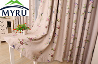 MYRU New arrival colorfull birds cloth curtains double side cloth curtain decorative voile curtains for bedroom and living room