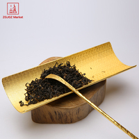 ZGJGZ Bamboo Design Style Cha Ze Coffee Tea Accessories Metal Tea Scoop Drinkware Tools Tin Pruduct