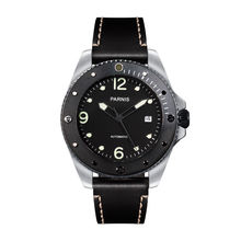 Parnis Outdoor Seriers Luminous Mens Sapphire Glass Ceramic Bezel 100m Waterproof Sport Automatic Mechanical Watch Wristwatch