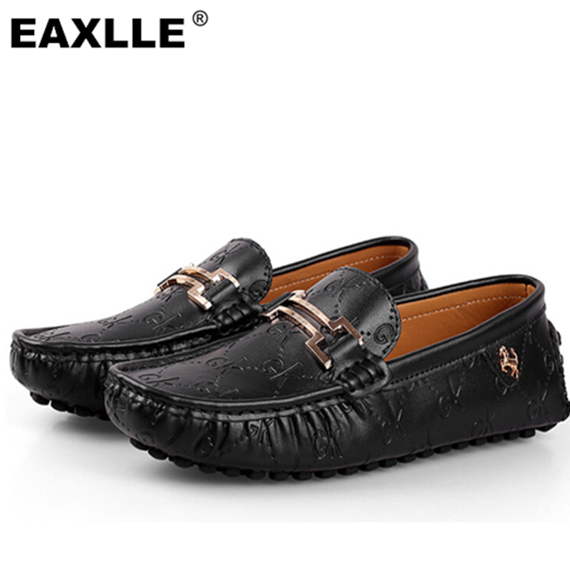 100% Genuine Leather Men Flat Shoes 3 Colors Fashion Designer Breathable Men Shoes Supper Soft Slip on Men Shoes SR-408