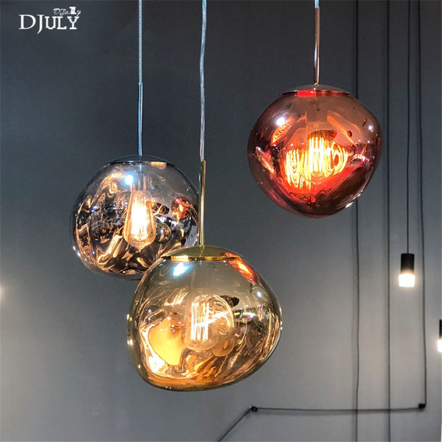 nordic lava chrome glass pendant lights for dining room Internet cafe clothing store modern indoor lighting fixtures led lampnordic lava chrome glass pendant lights for dining room Internet cafe clothing store modern indoor lighting fixtures led lamp