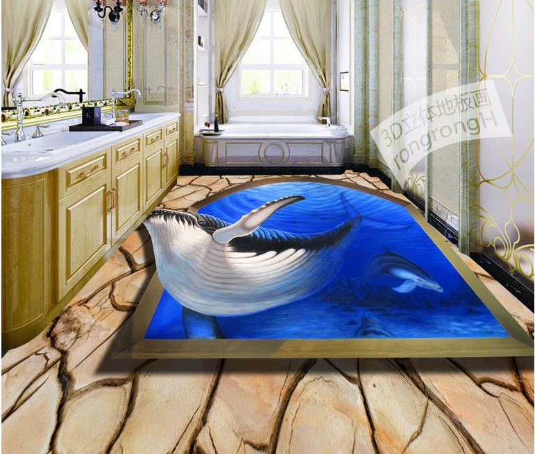 Great Custom 3d Waterproof Soundproof Floor Dolphins Sharks Modern Wallpaper Pvc  Vinyl Flooring Bedroom Wallpaper 3d Floor Painting In Wallpapers From Home  ...