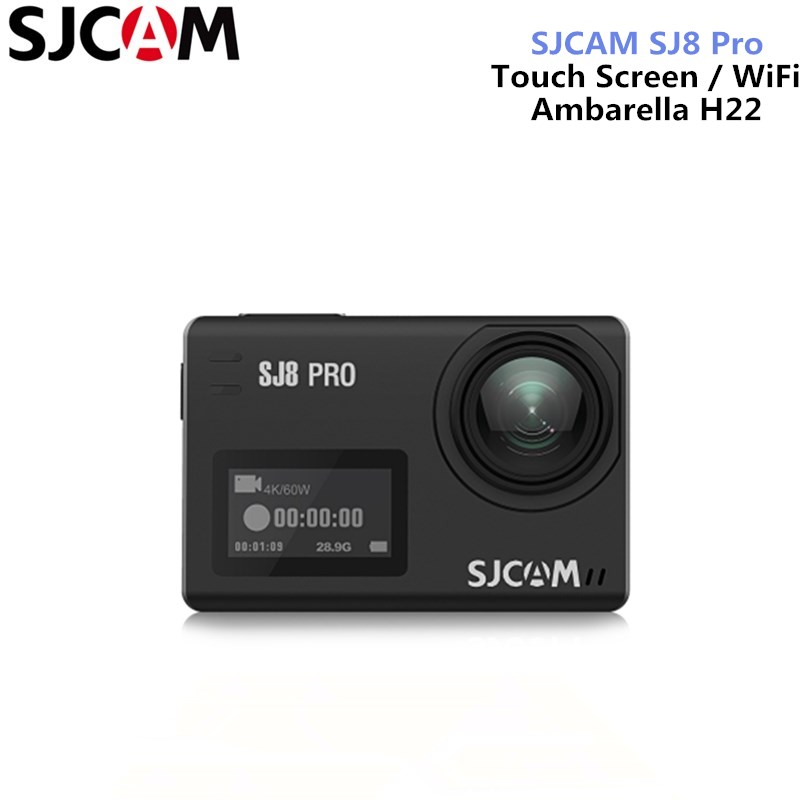 SJCAM SJ8 Pro/SJ8 Plus/SJ8 Air Action Caméra 4 K 60fps Double Écran Tactile WiFi Sport Caméra DV Télécommande Casque Caméra