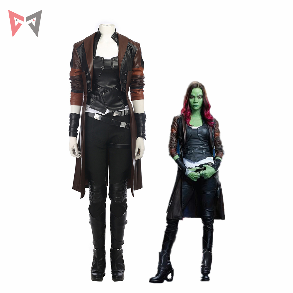 MMGG Guardians Of The Galaxy 2 Cosplay Costume Women Gamora Cosplay Costume For Halloween Women Full Set Custom Made