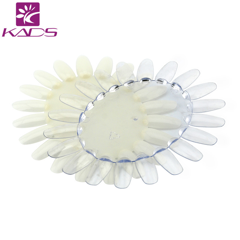 HOTSALE 100PCS/lot Oval Nail Art Display Chart Natural Wheels 20 Tips Trainers Practice Ellipse Plastic Gel Polish Plate hotsale 100