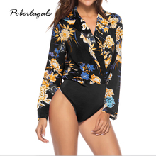 8d35e5dc9f Summer women jumpsuit female jumpsuits  rompers long sleeve Printed  coveralls Conjoined women bodysuit overalls rompers womens