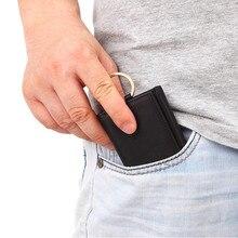 Cobbler Legend Mini Wallets Men Keychain Organizer Bag Women Genuine Leather Wallet Card Holder Coin Purse Pouch Money Car Key цена